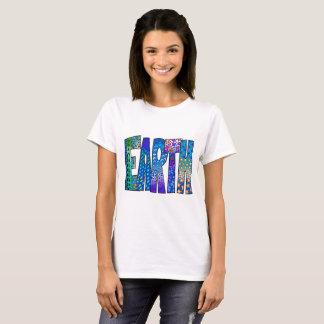 Camiseta T-shirt gráfico da terra para mulheres