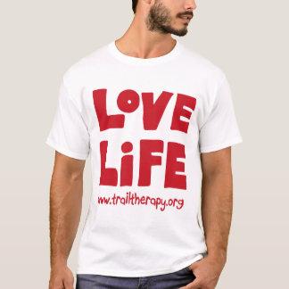 Camiseta T-shirt (grande) do algodão da vida do amor