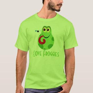 Camiseta T-shirt grande do amor do sapo verde