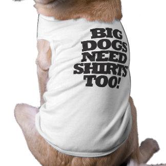 Camiseta T-shirt grande do cão dos cães