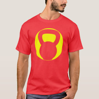 Camiseta T-shirt grande do Oval do logotipo de Kettlebell