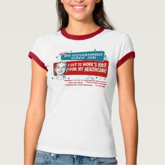 Camiseta T-shirt grande dos cuidados médicos do governo