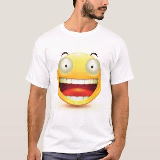 Camiseta T-shirt grande dos homens do smiley face dos olhos