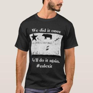 Camiseta T-shirt histórico da bandeira de Calexit
