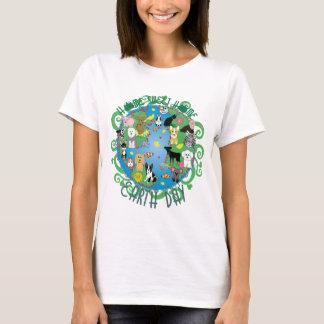 Camiseta T-shirt Home doce Home dos animais do Dia da Terra
