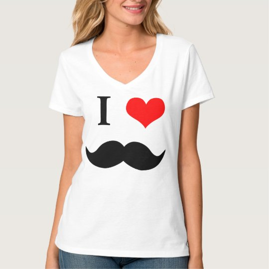 Camiseta T-shirt I LOVE MUSTACHE