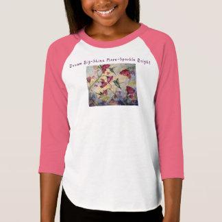 Camiseta T-shirt ideal da menina do colibri da inspiração