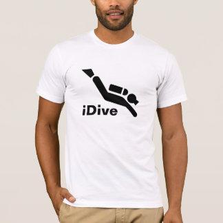 Camiseta T-shirt iDive do mergulho autónomo