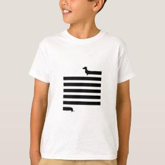 Camiseta T-shirt ilustrado dachshund do divertimento