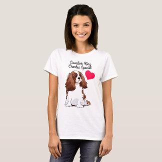 Camiseta T-shirt ilustrado descuidado do Spaniel de rei