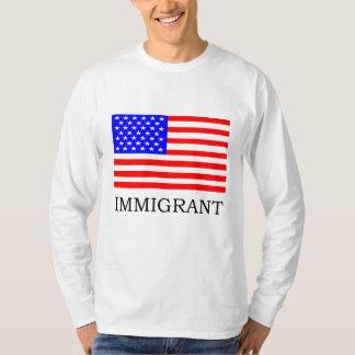 Camiseta T-shirt imigrante americano de Longsleeve