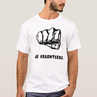 Camiseta T-shirt implacável do punho