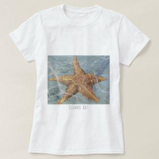 Camiseta T-shirt impressionante da estrela do mar da arte