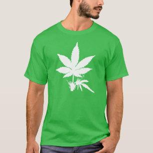320ea13c7 Camiseta T-shirt impresso branco da folha da erva daninha