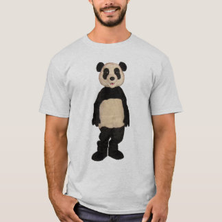 Camiseta T-shirt inábil de Argyle da panda