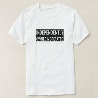 Camiseta T-shirt independente possuído & operado