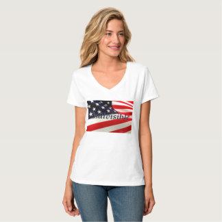 Camiseta T-shirt indivisível do V-Pescoço de Hanes da