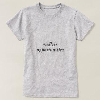 Camiseta T-shirt infinito à moda das oportunidades