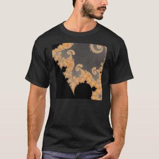 Camiseta T-shirt infinito do detalhe do ouro