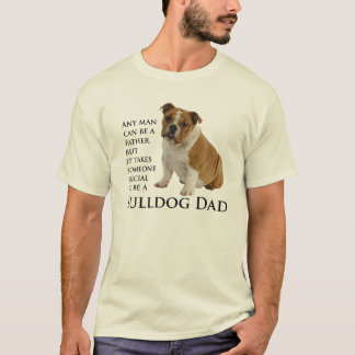 Camiseta T-shirt inglês do pai do buldogue