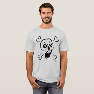 Camiseta T-shirt insensibilizado do crânio