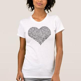Camiseta T-shirt inspirador da quiroterapia do coração das