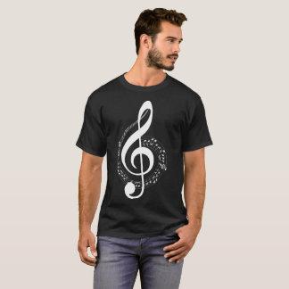 Camiseta T-shirt inverso da ilustração das notas musicais