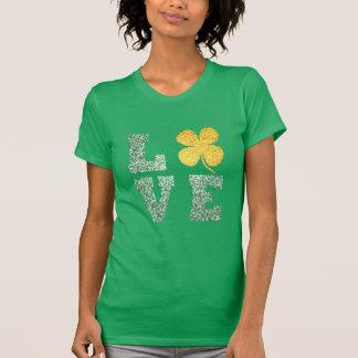 Camiseta T-shirt irlandês do trevo do verde do amor do Dia