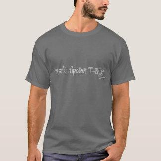 Camiseta T-shirt irónico do hipster com negação
