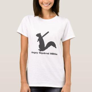Camiseta T-shirt irritado da milícia do esquilo