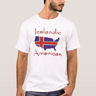 Camiseta T-shirt islandês do mapa de American/USA