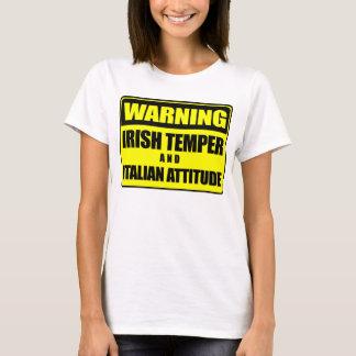 Camiseta T-shirt italiano da atitude da têmpera irlandesa