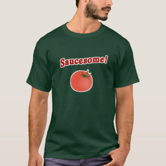 Camiseta T-shirt italiano engraçado de Saucesome do tomate