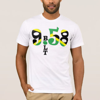 Camiseta T-shirt jamaicano da bandeira do parafuso 9,58 WR
