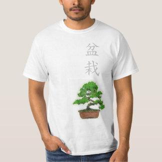 Camiseta T-shirt japonês da árvore dos bonsais dos homens