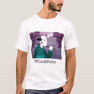 Camiseta T-shirt japonês do procrastinador do homem