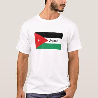 Camiseta T-shirt jordano da lembrança da bandeira de Jordão