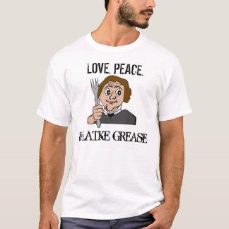 Camiseta T-shirt judaicos engraçados, amor. Paz. Graxa do