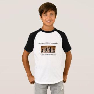 Camiseta T-shirt júniors do clube de xadrez da academia de