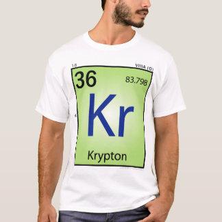 Camiseta T-shirt (Kr) do elemento do crípton - parte