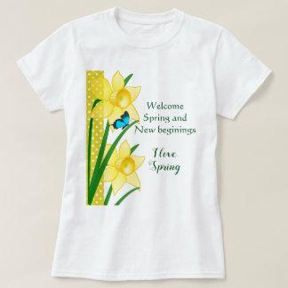 Camiseta T-shirt l Daffodils amarelos da novidade do