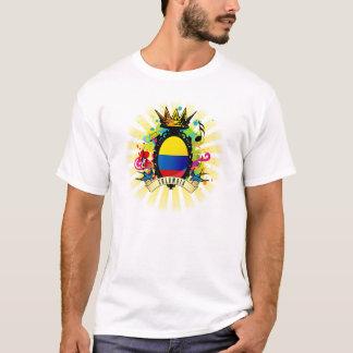 Camiseta T-shirt Latin da música de Colômbia onça