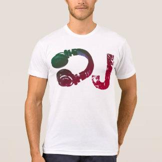 Camiseta t-shirt legal do auscultadores para o DJ