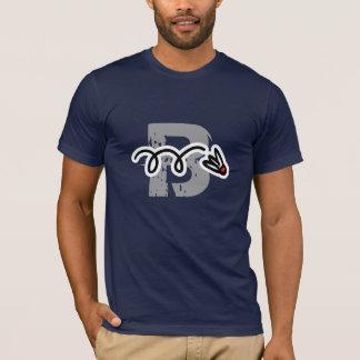 Camiseta T-shirt legal do jogador do badminton com canela