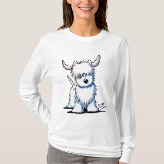 Camiseta T-shirt leve das senhoras da vaca das montanhas do