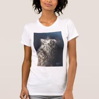 Camiseta T-shirt leve do gato de racum de Maine do anjo