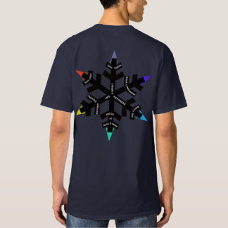 Camiseta T-shirt liberal do floco de neve