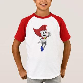 Camiseta T-shirt listrado da luva do miúdo poderoso de