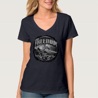 Camiseta T-shirt litoral da liberdade do navio de combate