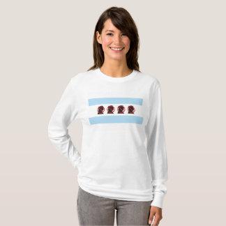 Camiseta T-shirt livre das senhoras de Chicago do trunfo